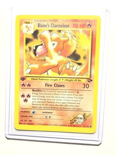 Blaine/'s Charmeleon Pokemon Gym Challenge 31//132Great condition!