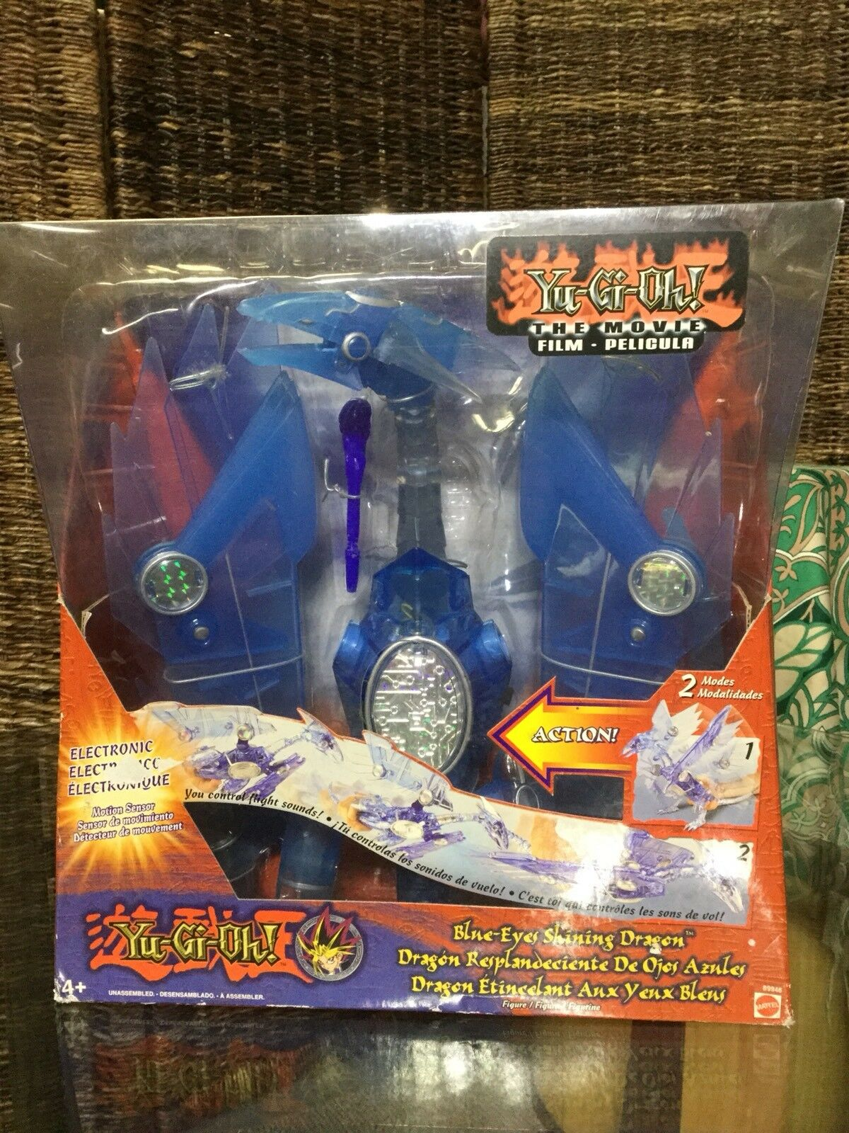 "Mattel Yu-Gi-Oh Blau Eyes Shining Electronic Dragon 12"" Figure NEW NIB"