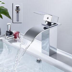 Waschtischarmatur Badarmatur Wasserfall Wasserhahn Mischbatterie Bad