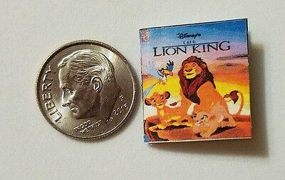Miniature Book Disney Movie Barbie 1//12 Scale   Lion King Simba