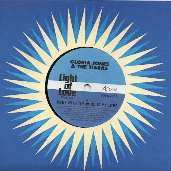 GLORIA JONES & THE TIARAS Gone With The Wind Is My Love NEW NORTHERN SOUL 45 60s