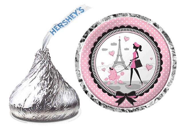 216 Paris Theme Party Favors Hershey Kiss Labels For Sale Online Ebay