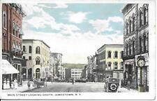 Main Sreet Looking South Jamestown NY nice postcard postally used in 1923
