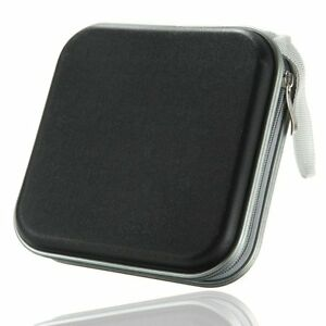 Black-40-Disc-Holder-Storage-Bag-Wallet-Hard-Case-Cover-For-CD-DVD-Carry-Sleeve