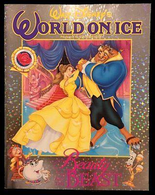 1992 Disney World On Ice Beauty And The Beast 11 x 14 Skating Program NM