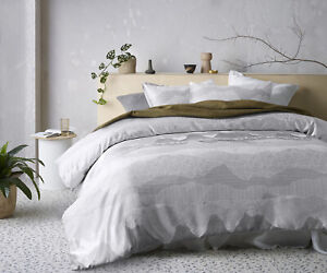 Accessorize Bedroom Collection Bulla Silver Jacquard Quilt Cover Set Queen Bed