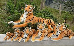 2018 Hot Giant Huge Tiger Emulational Life Size Plush Stuffed Toys