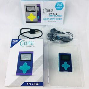 Eclipse-Fit-Clip-MP3-Player-4-GB-Purple-Teal-1-034-LCD-Plays-MP3-amp-WMA-Files-NEW