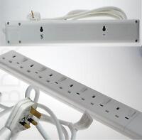 BluMagix 6 Socket Individual Switch Multi Plug Extension Lead 2M