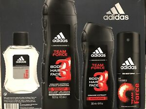 a3bcac39ee5c Details about Adidas TEAM FORCE Body, Hair wash, After Shave, Deo Body  Spray Set