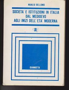 SOCIETà E ISTITUZIONI IN ITALIA DAL MEDIOEVO AGLI INIZI DELL'ETà MODERNA 1987