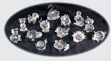 Set of 8 Crystal Glass Animals