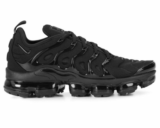 hot sale online 26ce0 416b3 2018 Nike Air Vapormax Plus Triple Black Dark Grey 924453-004 Mens Shoes S 9