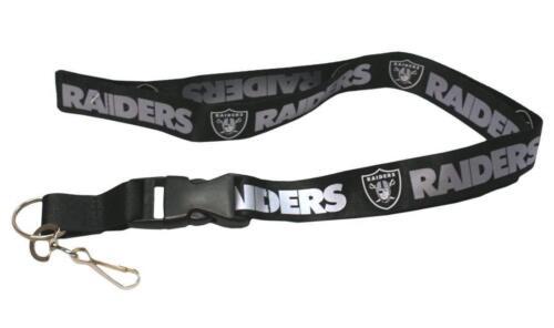 NFL Oakland Raiders Schwarz Breakaway Schlüsselband Schlüsselanhänger Lizenziert