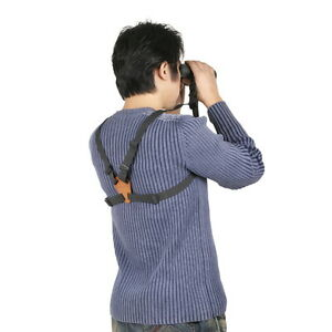 New-Binocular-Harness-Strap-Belt-with-Leather-For-Camera-Binocular-Range-Finder
