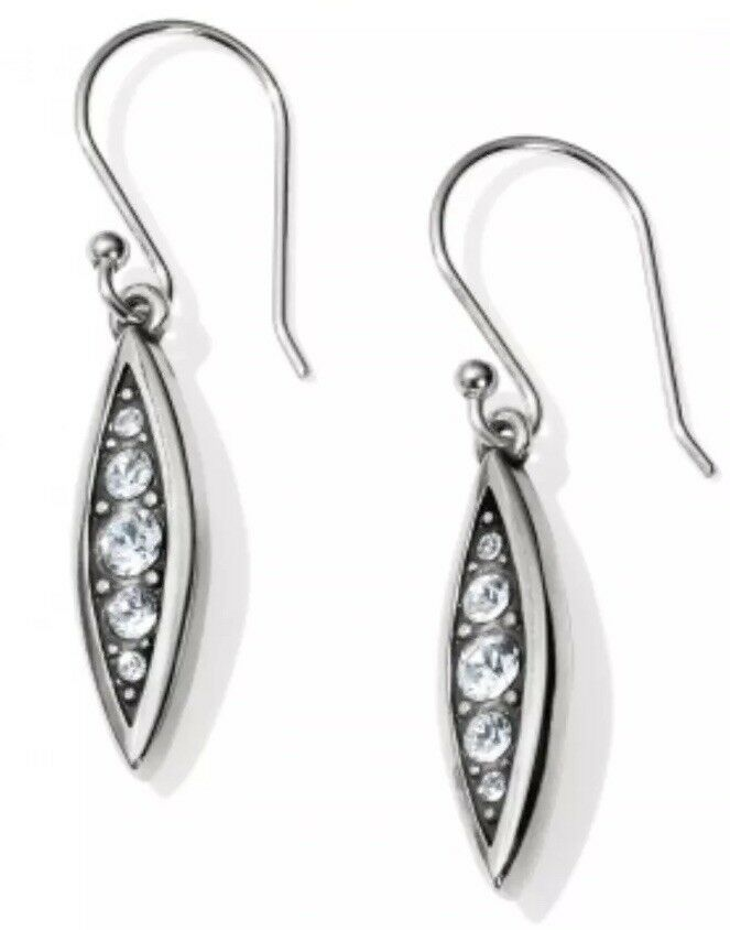Brighton CONTEMPO ICE Reversible Swarovski crystal french wire EARRINGS NWT