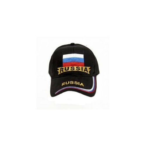 RUSSIA BLACK COUNTRY FLAG  EMBROIDERED HAT CAP . NEW