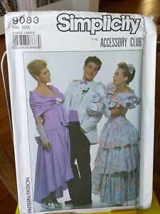 Oop-Simplicity-9083-retro-prom-accessories-bag-lace-gloves-cummerbund-NEW