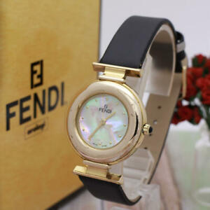 FENDI 320G Shell Gold 33mm watch From Japan Free shipping