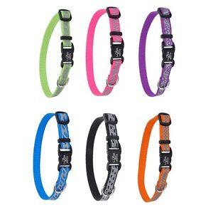 Reflective-Brite-Open-Design-Adjustable-Collar-for-Dog-EACH-6-Color-amp-size
