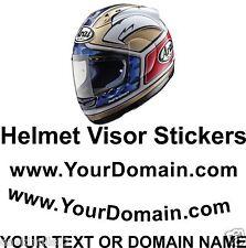 Arai Shoei AGV Helmet Visor Vinyl Lettering Sticker