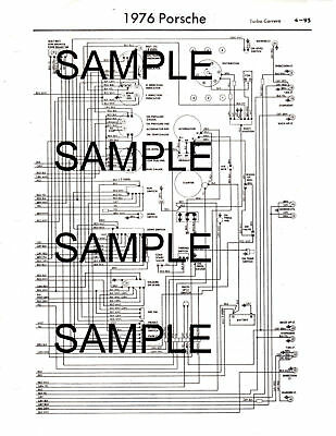 1976 FIAT 124 ALL MODELS 76 WIRING DIAGRAM GUIDE CHART ...