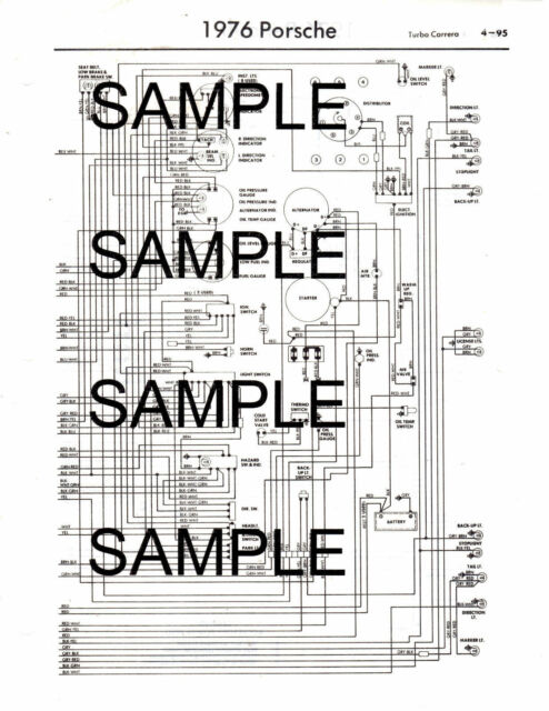 1976 Fiat 124 All Models 76 Wiring Diagram Guide Chart