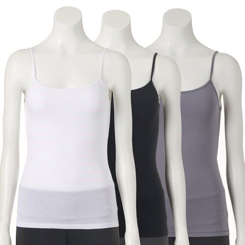 """Fruit of the Loom® Signature  Women/'s Ultra Soft 3-Pack CAMISOLES  /""""Wear 2 Ways/"""""""