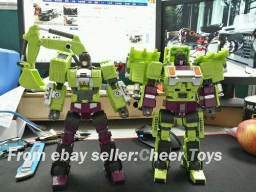 Jinbao A packaging Devastator Decepticons Oversized Toy Excavator Bulldozer