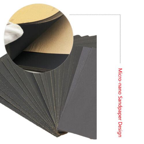 10-50PCS Papier de verre Abrasif Polissage Ponçage 180//240//320//400//600//2000 Grit