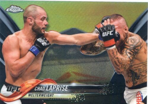 2018 TOPPS UFC CHROME BLACK REFRACTOR CHAD LAPRISE #510