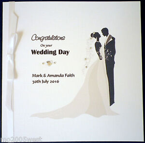 image is loading wedding congratulations card personalised for the bride amp