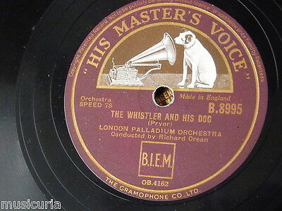 78rpm RICHARD CREAN - LONDON PALLADIUM whistler & his dog / choristers waltz