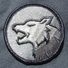 WOLF HEAD FIERCE DOG K9 TACTICAL MILITARY ACU DARK VELCRO® BRAND FASTENER PATCH
