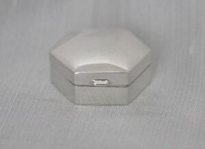 Petite Sechseckige Boîte à Pilules- 925 Argent Sterling- 2-6 X 2-6cm JogHsCvR-09163116-850965551