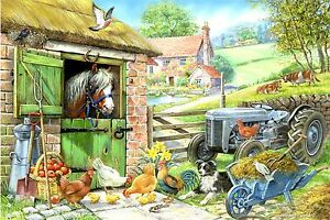 The House Of Puzzles - 250 BIG PIECE JIGSAW PUZZLE - Down On The Farm Big Pieces