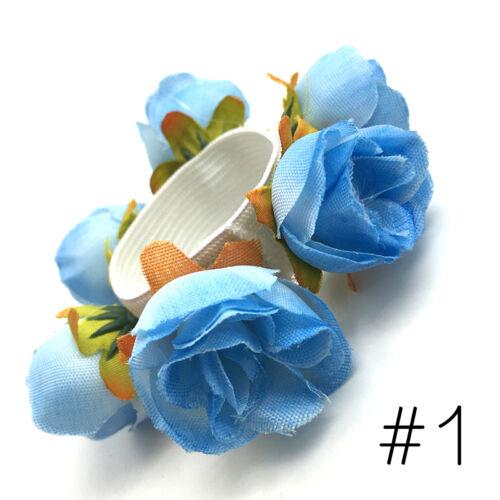 Haargummis Blumenmuster band Roll Blume Haarknoten Ring Halterung Girlande