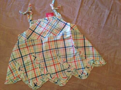 NWT Gymboree Beach Shack Plaid Scalloped Hem Swing Top Sz 4 /& 5