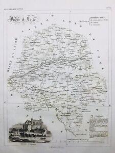 Indre et Loire en 1836 Château d'Amboise Tours Loire Chinon Loches Neuillé