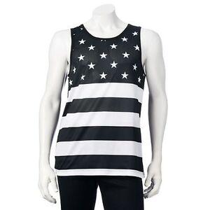 756bfc2696d3c5 TONY HAWK T-Shirt Mens Large Black Tank Top BORN and BRED Stars ...