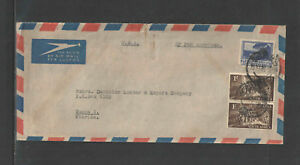 1952-SOUTH-AFRICA-PHILATELIC-AIR-MAIL-COVER-3-STAMPS-2-x-Sc-119
