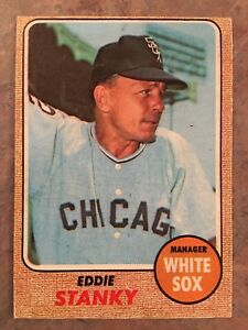 Details About 1968 Topps Baseball Card 564 Manager Eddie Stanky Chicago White Sox Ex