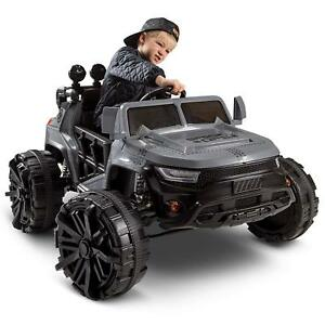 Huffy-Kids-Battery-Power-Ride-On-Truck-Gray-12-Volt-Special-Ops-NEW