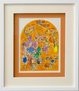 Marc-CHAGALL-Lithograph-LIMITED-Edition-034-Joseph-034-w-Cat-Ref-c49-w-Gallery-Frame