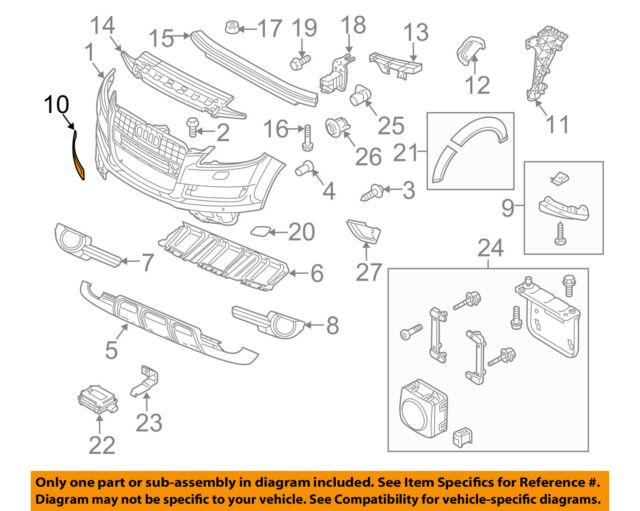 New Genuine Audi Cover 4L0807449EGRU OEM