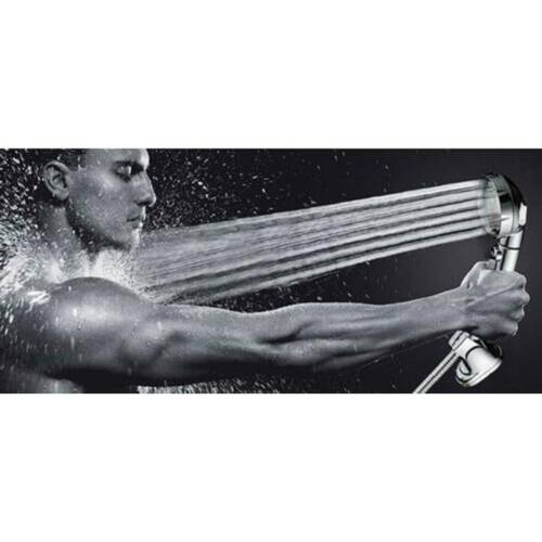 3 In 1 High Pressure Rain Shower Head Spray Handheld with ON//Off//Pause 3-Setting