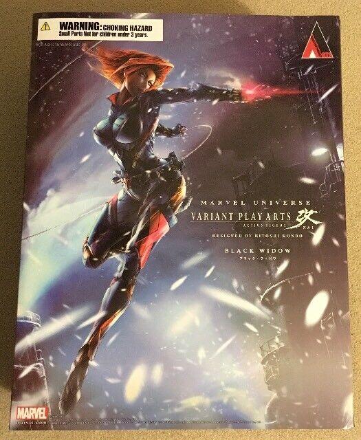 Auténtico  Marvel Square Enix  negro Widow  variante Jugar Arts Kai Figura de acción
