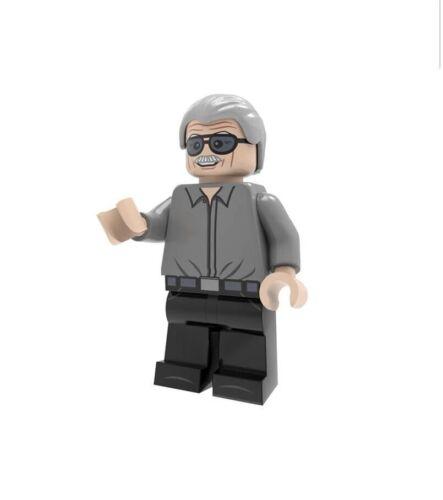 MARVEL COMICS STAN LEE CUSTOM LEGO MINIFIGURE COMPATIBLE