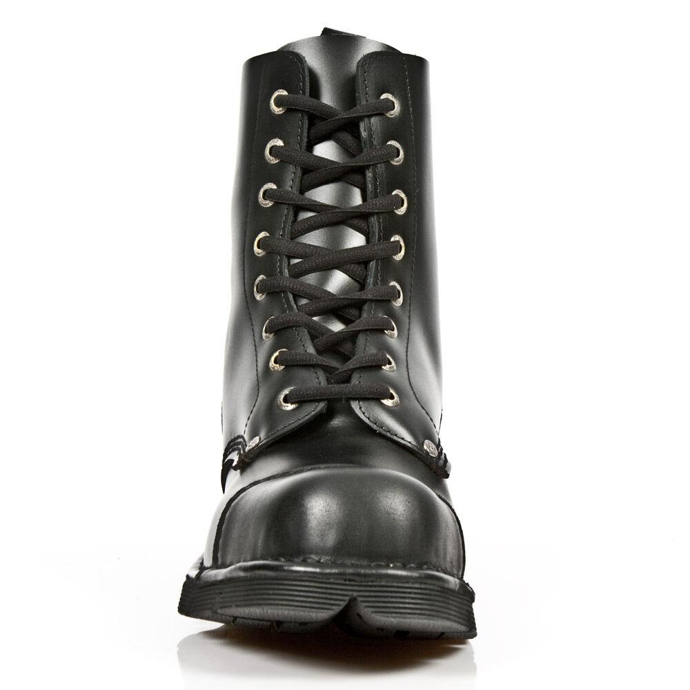 New Rock schwarz Stiefel Stil m.newmili083 S1 schwarz Rock unisex Stahlkappe d15cef