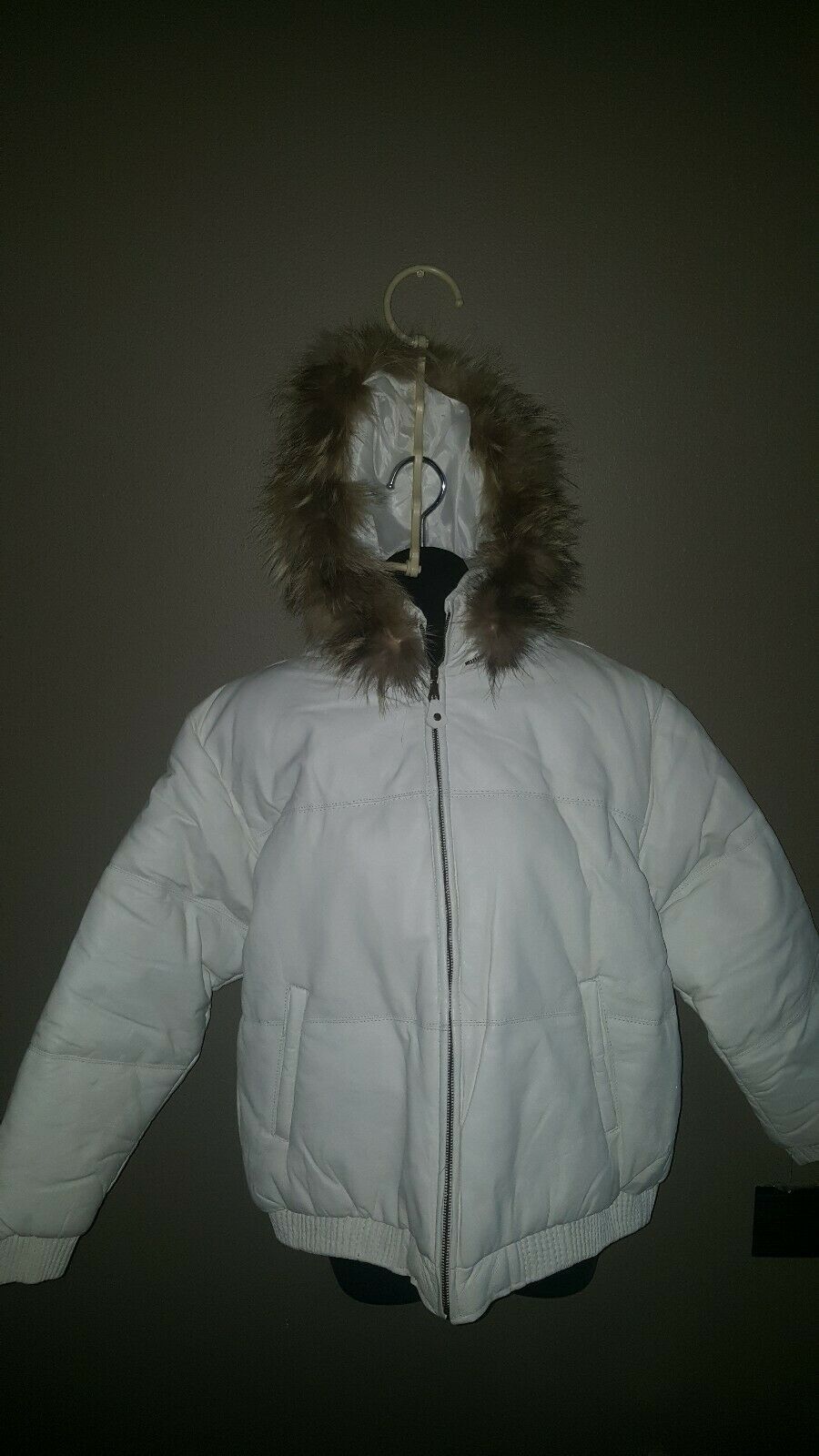 Tanner's Avenue Woman's Leather Parka 3x White